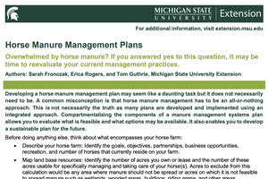 Horse Manure Management Plans