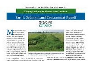 Keeping Land-applied Manure in the Root Zone - Part 1: Sediment and Contaminant Runoff (WO1036)