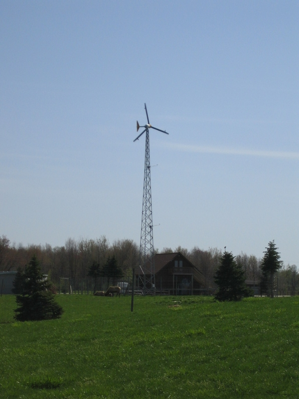 Photo: On-site use wind energy system. Photo Credit: Brad Neumann l MSU Extension