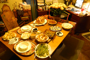 "Host a ""Friendsgiving"" celebration this year"
