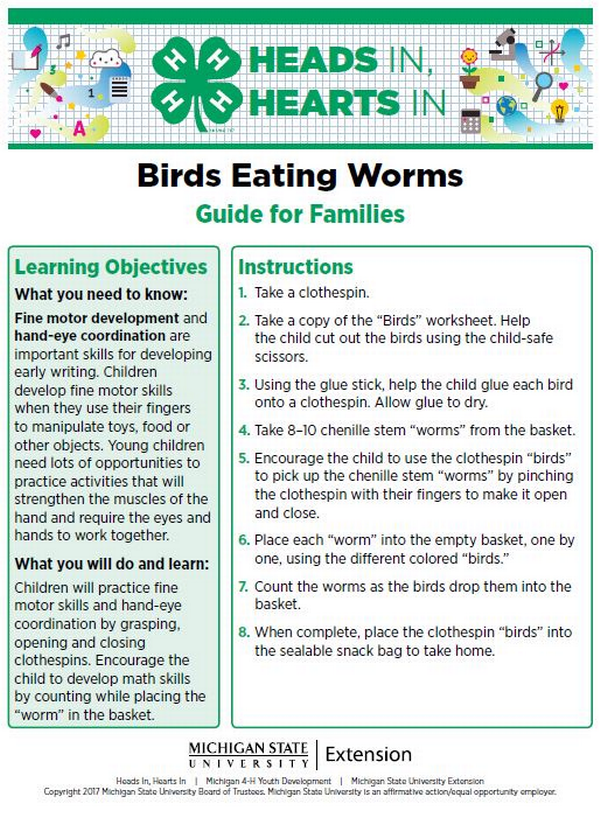 Birds Eating Worms cover page.