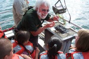Youth learn about Michigan's marine wildlife.