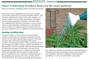 Smart Gardening: Fertilizer basics for the smart gardener