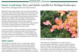 Smart Gardening: Trees and shrubs suitable for Michigan landscapes