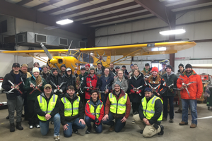 The 2018 UAS in Agriculture class poses with their drones.
