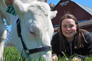 AFRE senior learns the business side of the dairy industry