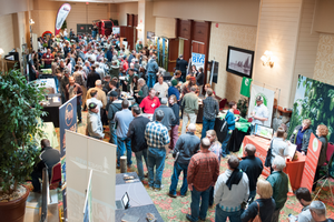 The trade show at the Great Lakes Hop and Barley Conference attracts dozens of vendors each year and the conference schedule facilitates ample time for networking.