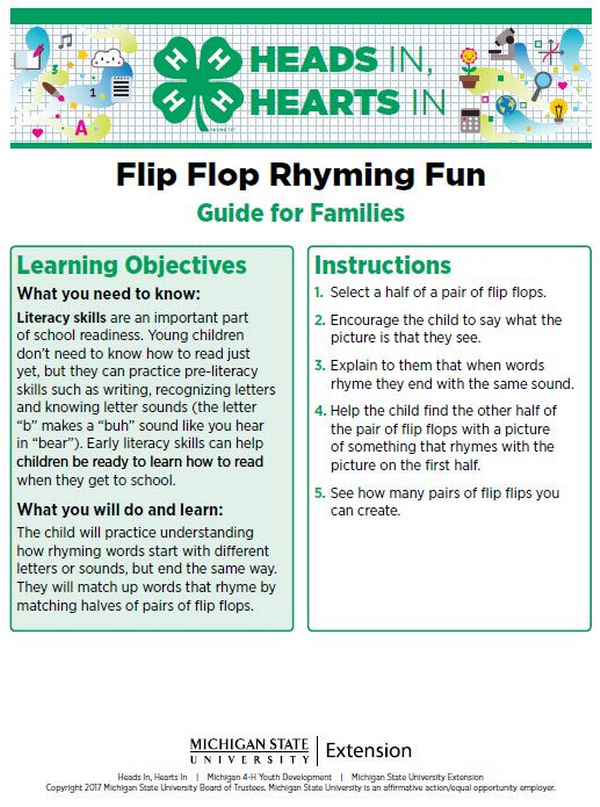 Flip Flop Rhyming Fun cover page.