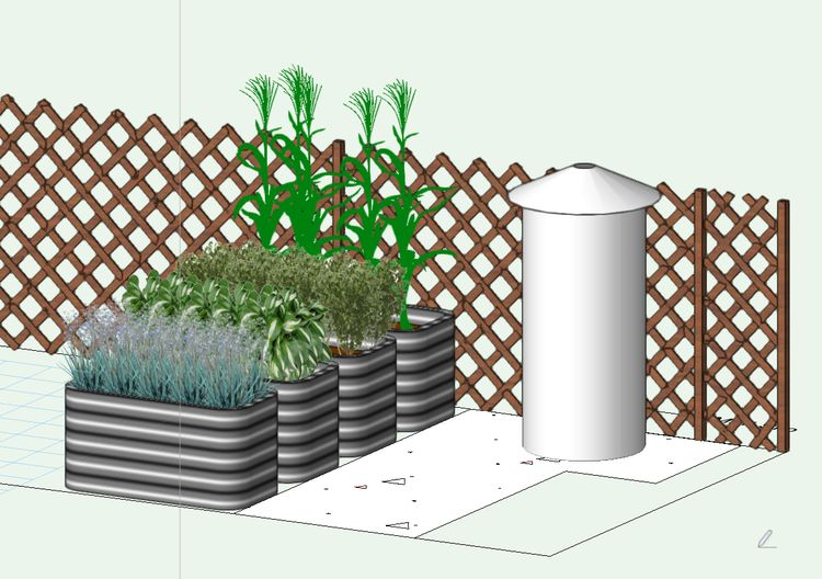 Illustration of the new MAC Garden to be installed in the Pete and Sally Smith Schoolyard Demonstration Garden of the Michigan 4-H Children's Gardens at Michigan State University.