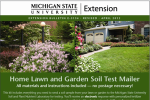 Home Lawn and Garden Soil Test Self-Mailer (E3154)