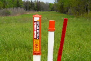 Be aware of pipelines when digging fence posts, deep tillage and earth leveling. Photo by Jim Isleib, MSU Extension.