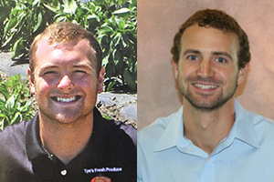 Tye Thompson (left) and Tye Wittenbach (right) were awarded industry scholarships