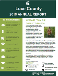 Cover of 2018 county annual report 2018-19