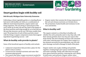 Smart gardens begin with healthy soil
