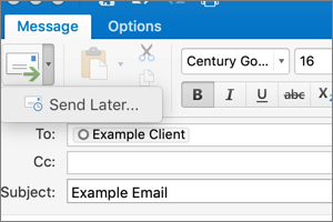 Delaying Delivery in Outlook for Mac