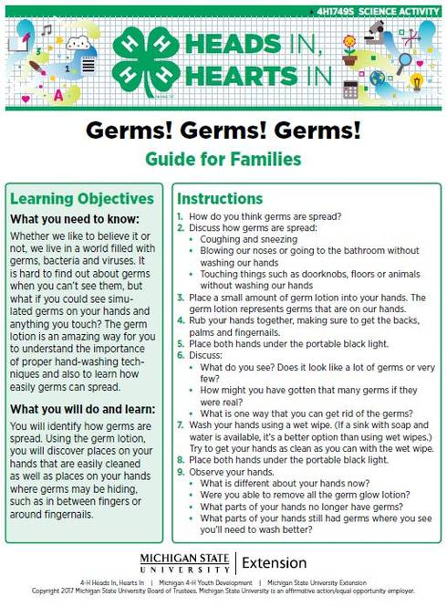 Germs! Germs! Germs! cover page.