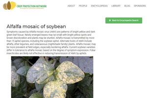 The Crop Protection Network website features an encyclopedia of field crop diseases designed to help farmers identify diseases.