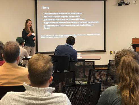 Abby Pritchard presents at the 2018 Graduate Research Forum