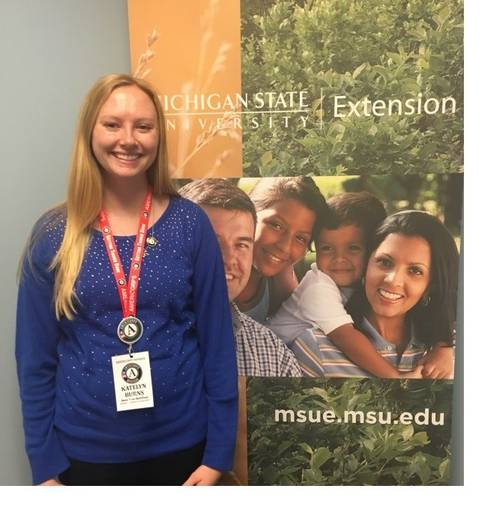 Huron Pines AmeriCorps member Katelyn Burns will serve as the Environmental Education and Outreach Coordinator for MSU Extension and Sea Grant in Macomb County in 2017.