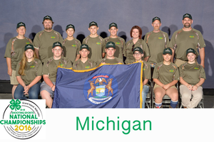 Michigan youth at the 2016 4-H Shooting Sports National Championships.