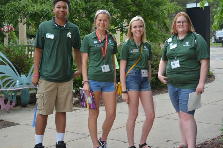 4 4-H youth at exploration days
