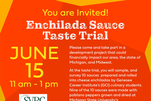 Join us for a Michigan Enchilada Sauce Taste Trial on June 15