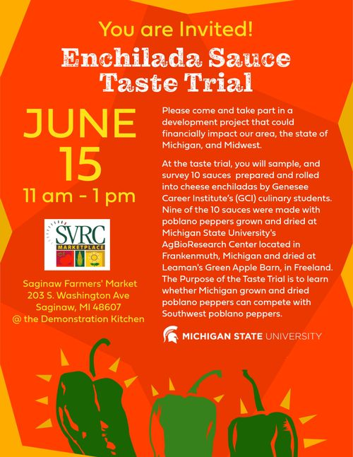 Enchilada sauce taste trial flyer