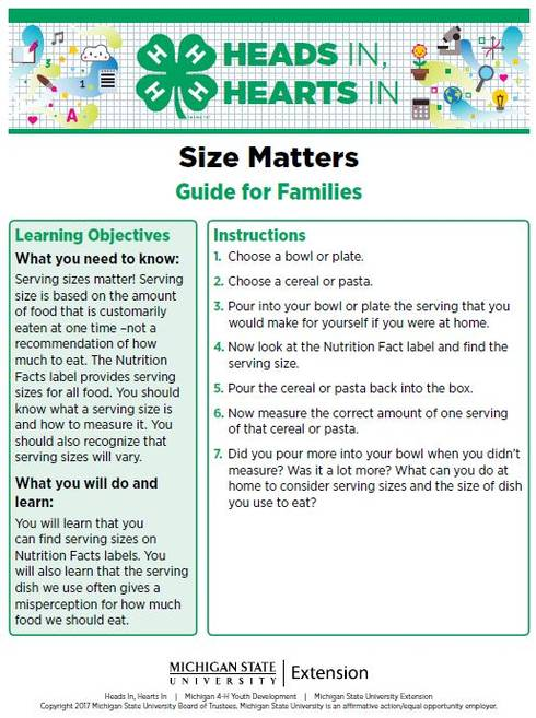 Size Matters cover page.