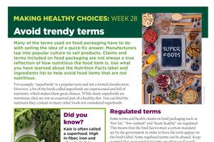 Making Healthy Choices newsletter page.