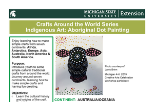 Craft Around the World Series Indigenous Art: Aboriginal Dot Painting