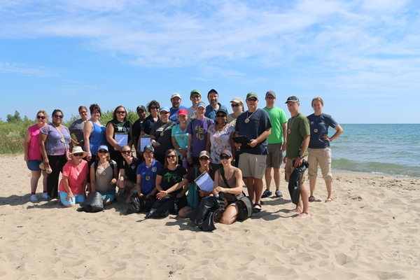 Teachers from across Michigan took part in the four-day Lake Huron Place-Based Education Summer Teacher Institute. Photo: Michigan Sea Grant