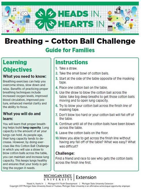 Breathing - Cotton Ball Challenge cover page.