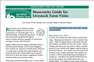 Biosecurity Guide for Livestock Farm Visits (E2842)
