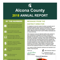 Cover of Alcona County Annual Report 2018