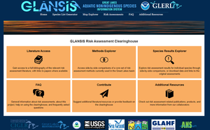 GLANSIS risk explorer evaluates the potential for Great Lakes biological invasions
