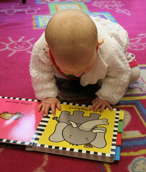 Books play an important role in children's learning.