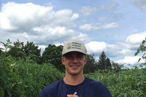 Junior John Gove was awarded an organic farming grant