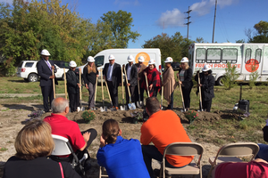 The new Flint Fresh Food Hub breaks ground in Flint