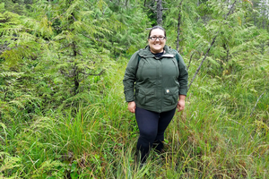 MSU Forestry graduate student Antoinette Shirley