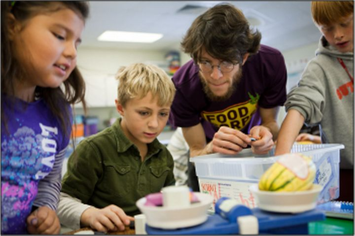 Classroom nutrition education with students of Traverse City Area  Public Schools.