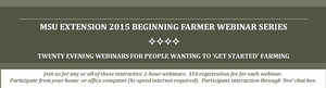 Why bother with online Beginning Farmer Webinars?