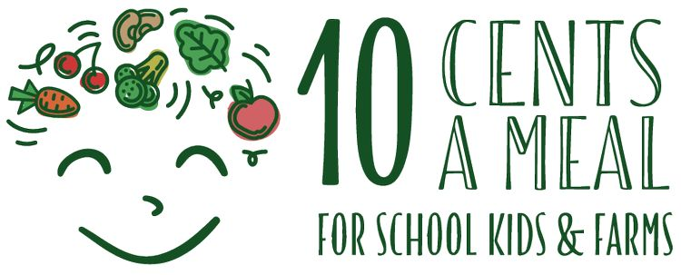 10 Cents a Meal for School Kids and Farms logo.