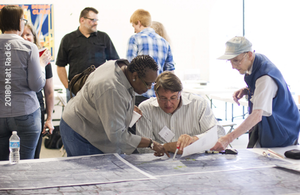Group working at a Charrette.