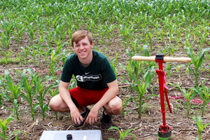Featured Entomology undergraduate student Connor Sturr