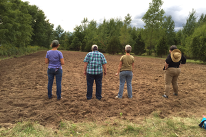 Ground breaking at the Women In Agriculture site.
