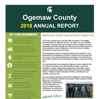 Cover of 2018 Ogemaw Annual Report