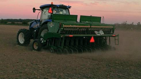 Planting winter wheat