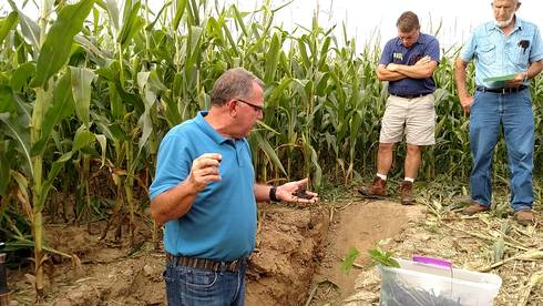 Soil health was an important topic discussed by David Lamm, team leader for NRCS's National Soil Health and Sustainability Team, at the 2016 Hillsdale County Nutrient Management Field Day event. | Photo by: Shelby Burlew, MSU Extension