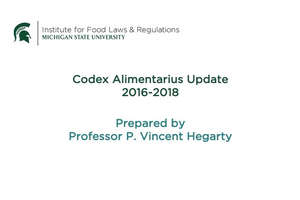 Codex update by P. Vincent Hegarty.