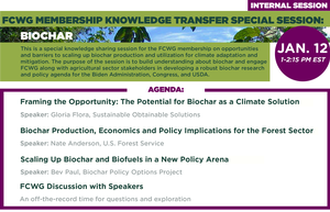 FCWG Membership Knowledge Transfer Special Session: Biochar